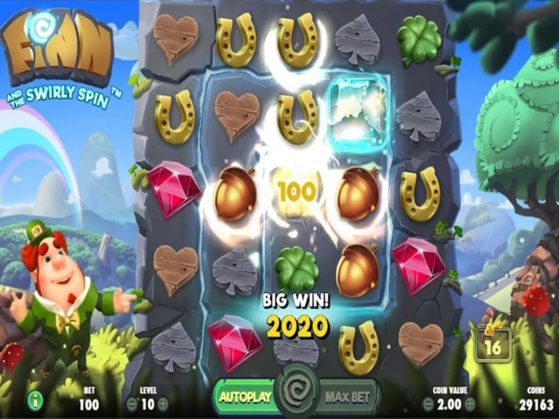 finn and the swirly spin slot review netent reels